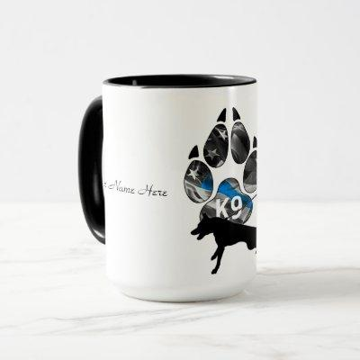 Thin Blue Line K9 Unit Mug