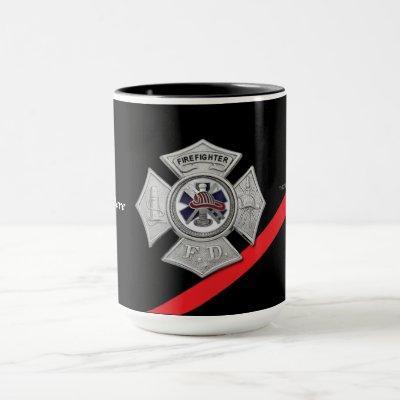 Thin Red Line Firefighter Coffee Mug
