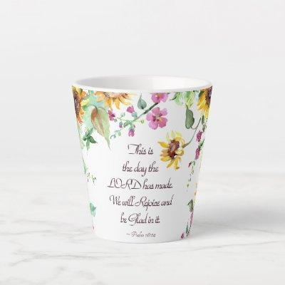 This is the Day the Lord has Made Psalm 118:24 Latte Mug