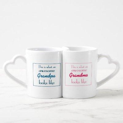 This Is What Awesome Grandparents Looks Like Coffee Mug Set