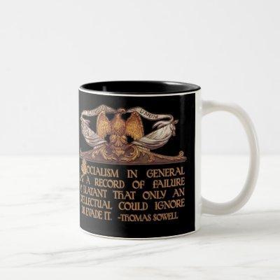 Thomas Sowell Quote on Socialism Two-Tone Coffee Mug