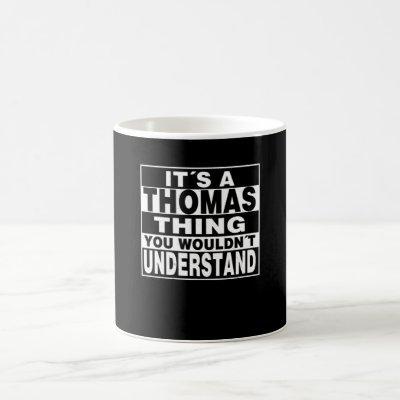 THOMAS Surname Personalized Gift Coffee Mug