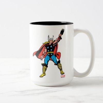 Thor Raising Mjolnir Two-Tone Coffee Mug