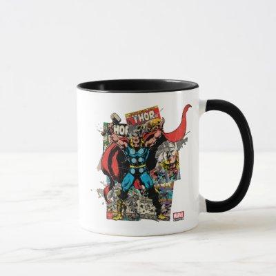 Thor Retro Comic Collage Mug