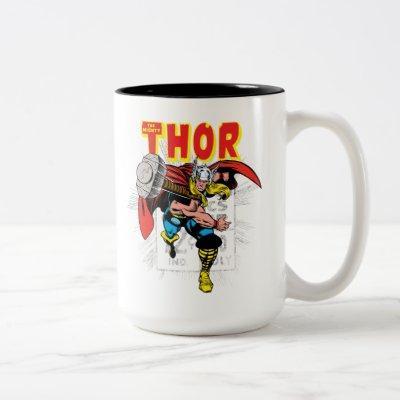 Thor Retro Comic Price Graphic Two-Tone Coffee Mug