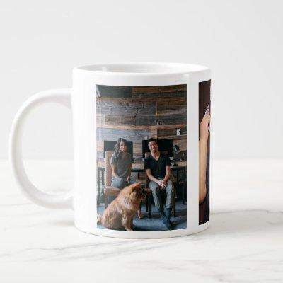 Three Photo Personalized Custom Giant Coffee Mug
