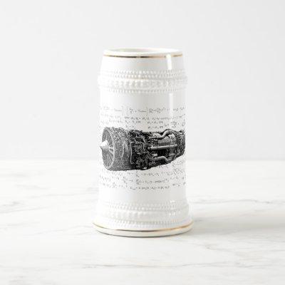 Thrust matters! beer stein