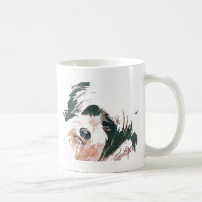 Tibetan Terrier portrait Coffee Mug