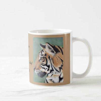 TIGER Coffee Mug Tea Cup Original Watercolor