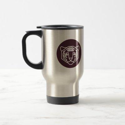 Tiger Face Badge Travel Mug