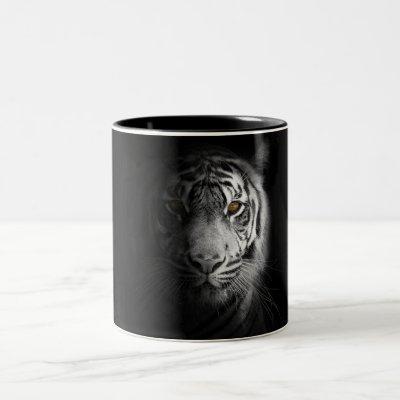 Tiger, tiger photography, stunning, Two-Tone coffee mug