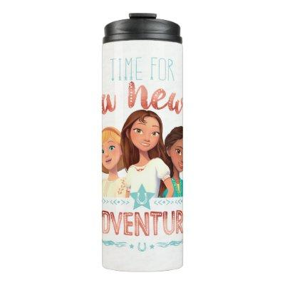 """""""Time For A New Adventure"""" Girls Graphic Thermal Tumbler"""