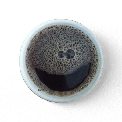 Time for coffee face button