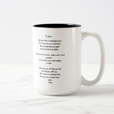 """To Groom's Parent"" Personalized Mug"