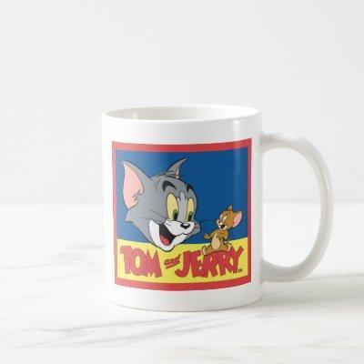 Tom And Jerry Logo Flat Coffee Mug