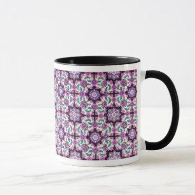 TOPKAPI, black and white,purple ,green, pink Mug