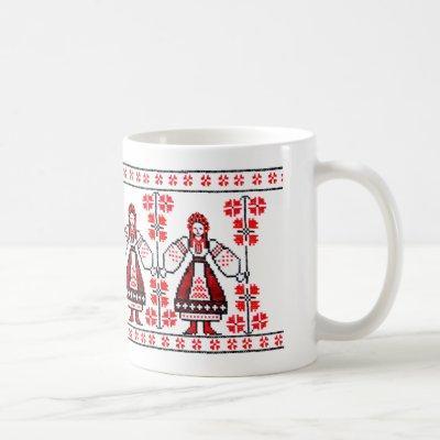 Traditional Ukrainian embroidery ukraine girls Coffee Mug