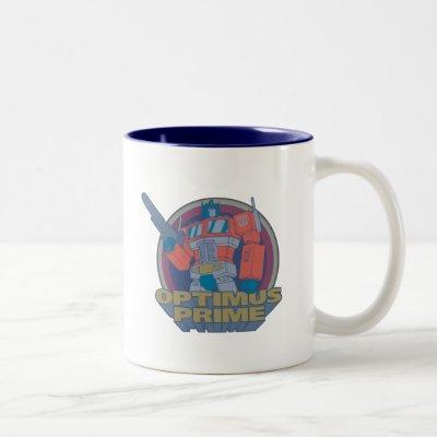 Transformers | Retro Optimus Prime Circle Graphic Two-Tone Coffee Mug