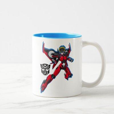 Transformers   Windblade Flying Pose Two-Tone Coffee Mug