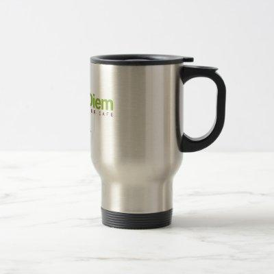 Travel Coffee Mug w/ Logo - Kava Diem Cafe
