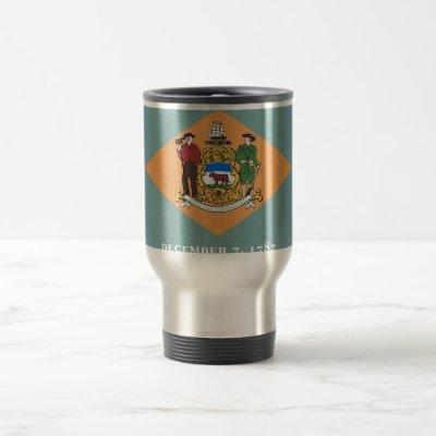 Travel Mug with Flag of  Delaware State - USA