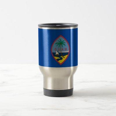 Travel Mug with Flag of  Guam - USA