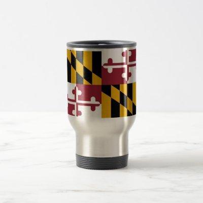 Travel Mug with Flag of Maryland State - USA