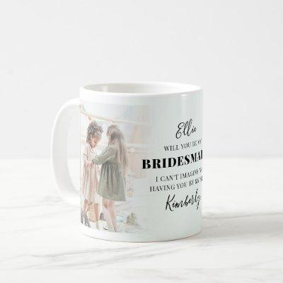 Trendy 2 Photo Will You Be My Bridesmaid? Proposal Coffee Mug
