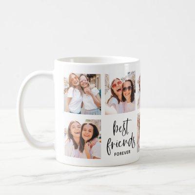 Trendy Black and White Script | Best Friends Photo Coffee Mug