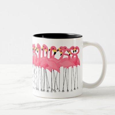 Trendy Flamingos Two-Tone Coffee Mug