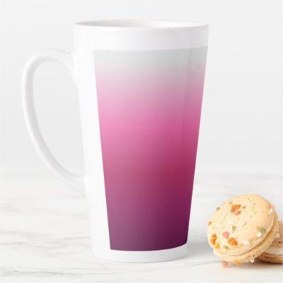 trendy magenta maroon marsala burgundy ombre latte mug