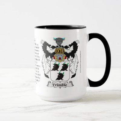 Trimble Family Coat of Arms Mug