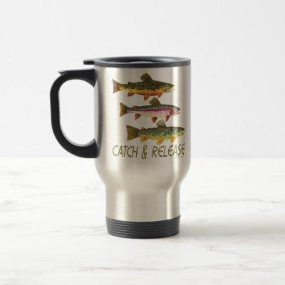 Trout Catch and Release Travel Mug