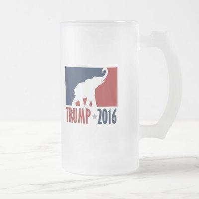 Trump 2016 Pro GOP Candidate Design Frosted Glass Beer Mug