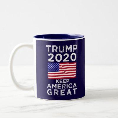 Trump 2020 : Keep America Great Two-Tone Coffee Mug