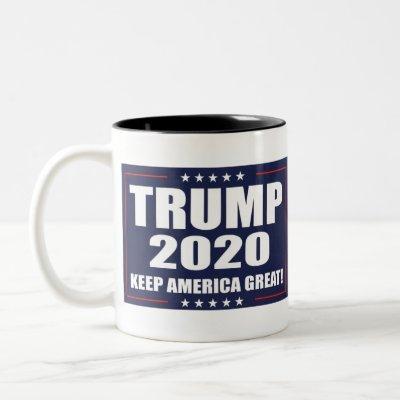 Trump 2020 Two-Tone coffee mug