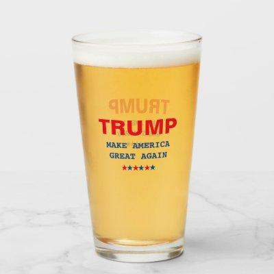 Trump Make America Great Again Beer Cocktail Pint Glass