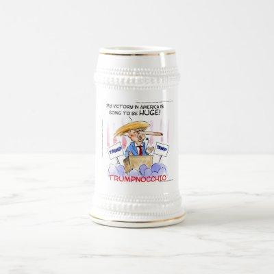 Trumpnocchio Funny Donald Trump Items Beer Stein