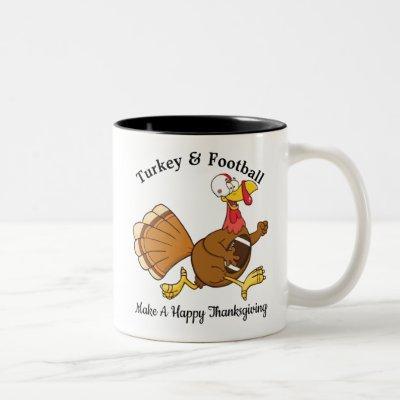 Turkey & Football Two-Tone Coffee Mug