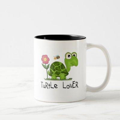 Turtle Lover Tshirts and Gifts Two-Tone Coffee Mug
