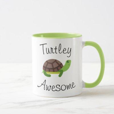 Turtle Pun Green Mug