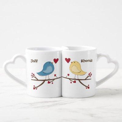Tweethearts nested mugs customized