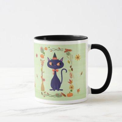 Twinkle Spice Witch Cat Mug