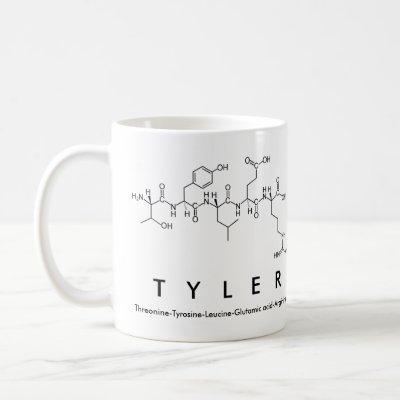 Tyler peptide name mug