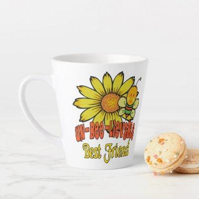 Unbelievable Best Friend Sunflowers and Bees Latte Mug