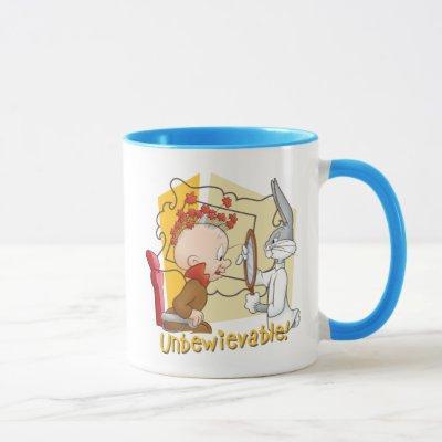 """Unbewievable"" Barber BUGS BUNNY™ & Elmer Fudd Mug"