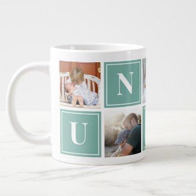 Uncle Photo Collage Custom Giant Coffee Mug