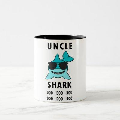 UNCLE SHARK Doo Doo Doo Two-Tone Coffee Mug