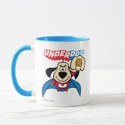 Underdog   Flying With His Special Ring Mug
