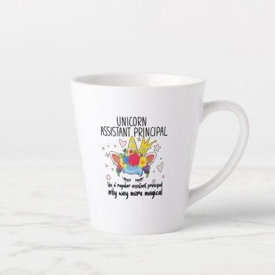 Unicorn Assistant Principal Shirt Teacher Apprecia Latte Mug